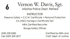 Firearms Safety Instructor