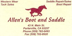 Allens Boots on Main Street