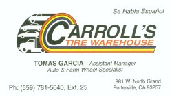 Carol's Tire Warehouse