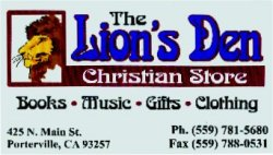 The Lion's Den Christian Book Store