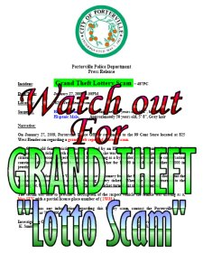 Watch out for LATEST LOTTO SCAM