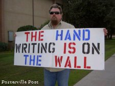 Have you seen the HAND WRITING ON THE WALL ???