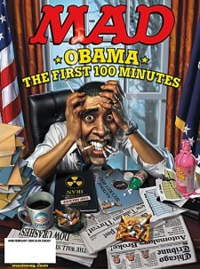MAD MAGAZINE : Obama's First 100 Minutes