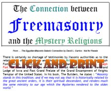 Click here and print a copy for your Masonic Christians