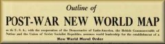 1941 New World Order Map