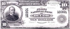 10 Dollar Bill from Ducor Branch Bank