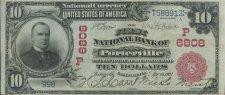 1903 10 Dollar Bill from Porterville Branch Bank