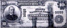 10 Dollar Bill from Terra Bella Branch Bank