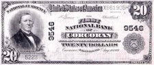 20 Dollar Bill from Corcoran Branch Bank