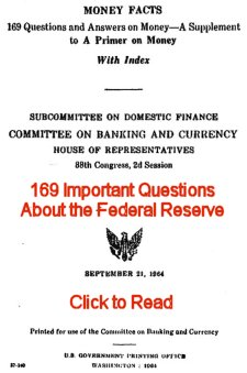 1964 Money Facts sent to Congress